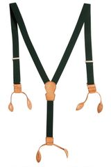 Iceberg Suspenders with Leather Details