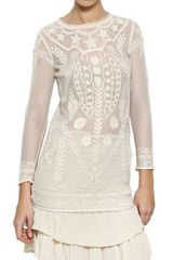 Isabel Marant Cotton Lace On Net Dress - Lyst
