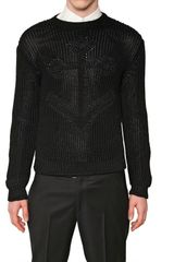 Jil Sander Techno Knit Angora Sweater - Lyst