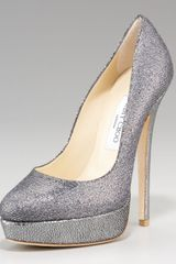 Jimmy Choo Womens Eros Glittered Platform Pump - Lyst