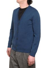 Maison Martin Margiela Wool Cardigan with Leather Patches - Lyst