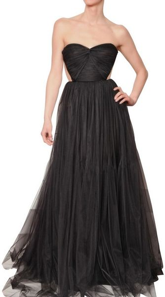 Maria Lucia Hohan Sweet Heart Tulle Gown in Black - Lyst