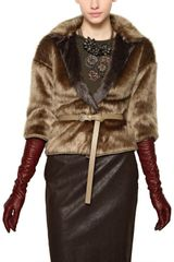 Maurizio Pecoraro Reversible Techno Faux Fur Coat - Lyst