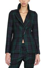 McQ by Alexander McQueen Fleece Wool Tartan Jacket - Lyst