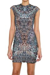 McQ by Alexander McQueen Cap Sleeve Interlock Jersey Dress - Lyst