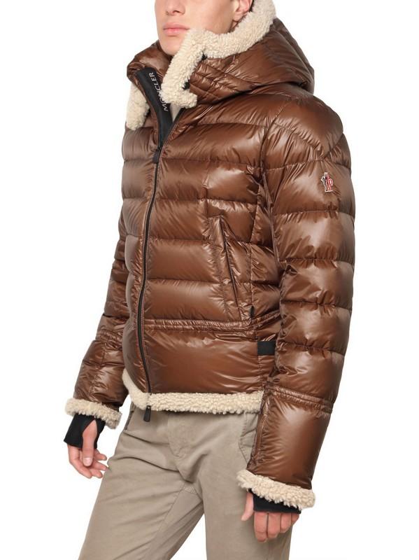 brown moncler jacket