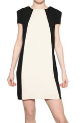 MSGM Two Tone Viscose Crepe Dress - Lyst
