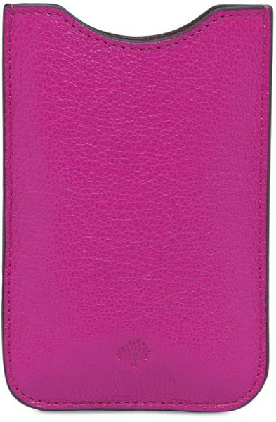 Mulberry Glossy Leather Iphone Cover in Pink - Lyst