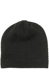 Neil Barrett Wool Mix Knit Beanie Hat - Lyst