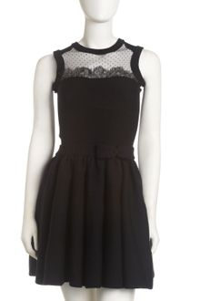 RED Valentino Knit-Lace Dress - Lyst