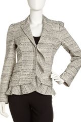 RED Valentino Ruffletrim Tweed Jacket - Lyst