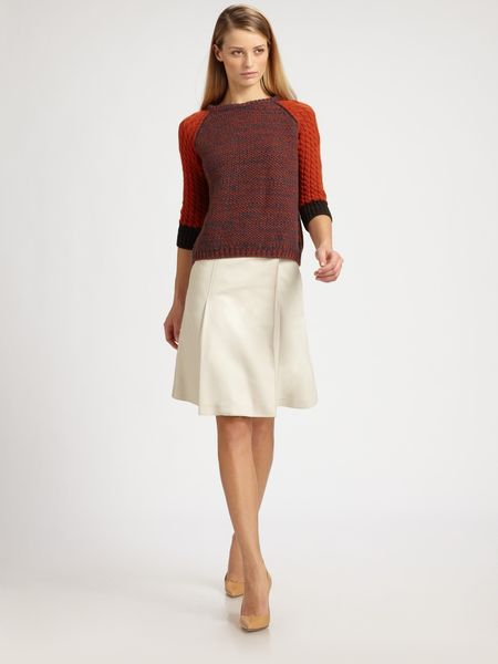 Rochas Wool Sweater in Red (rust) - Lyst