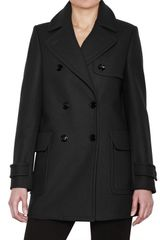 See By Chloé Double Breasted Wool Cloth Jacket - Lyst