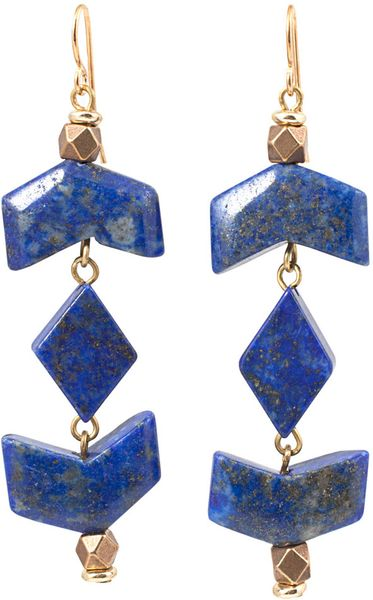 Vanessa Mooney Lapis Arrow Earrings in Blue - Lyst