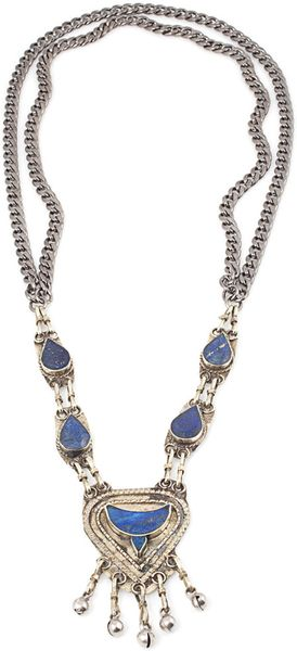 Vanessa Mooney Lapis Necklace in Blue - Lyst