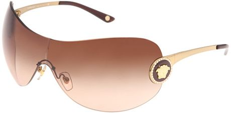 Versace Plastic Frame Sunglasses in Brown (b) - Lyst