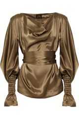 Vivienne Westwood Anglomania Giant Witch Satin Blouse - Lyst