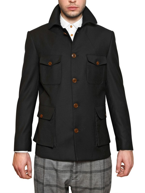 Vivienne westwood Lightweight Cool Wool Colonial Jacket in Black