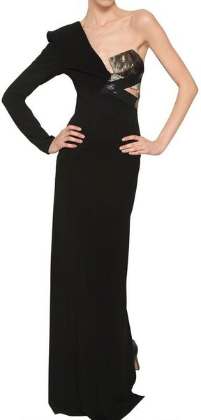 Anthony Vaccarello Lurex On Viscose Jersey Long Dress - Lyst