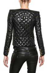 Balmain Quilted Techno Cotton and Nylon Jacket in Black - Lyst