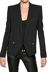 Balmain Stretch Cool Wool Jacket - Lyst