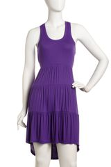 BCBGMAXAZRIA Tiered Racerback Dress Wisteria - Lyst