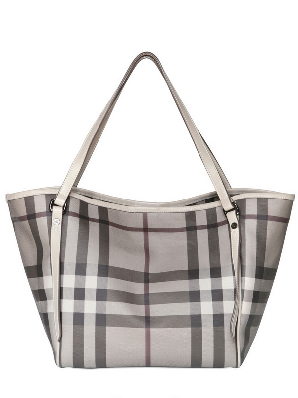 6fd9083566fe Lyst - Burberry Small Canterbury Pvc Shoulder Bag in Gray