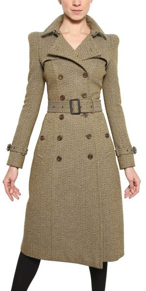 Burberry Prorsum Herringbone Tweed Coat - Lyst
