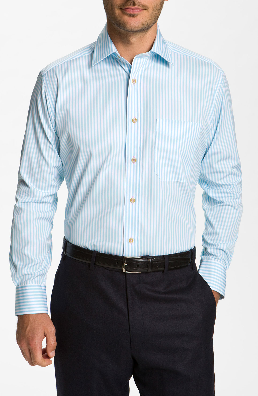David Donahue Woven Sport Shirt In Blue For Men Sea Lyst