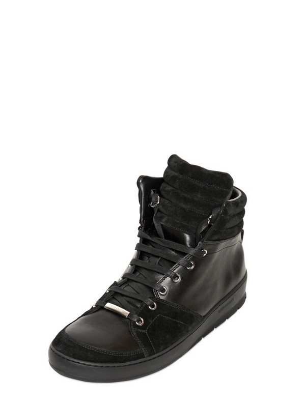 067fd542db8bf Lyst - Dior Homme Suede Leather High Top Sneakers in Black for Men