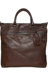 Dolce & Gabbana Leather Lock Flat Tote Bag - Lyst