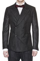 Dolce & Gabbana Wool Flannel Pinstriped Jacket - Lyst