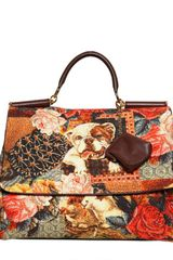 Dolce & Gabbana Soft Sicily Brocade Top Handle - Lyst
