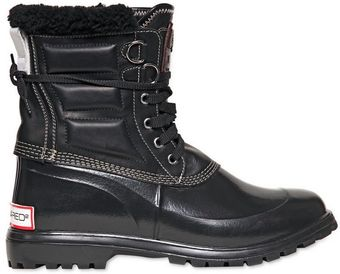 DSquared2 Leather Rubber Rain Canada Boots - Lyst