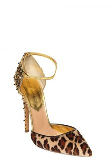 DSquared2 110mm Lalique Pony Leopard Studs Pumps - Lyst