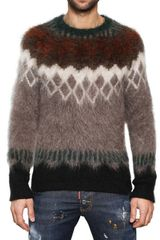DSquared2 Wool Mohair Round Neck Sweater - Lyst
