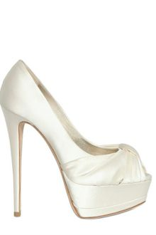 Giuseppe Zanotti 140mm Satin Open Toe Pumps - Lyst