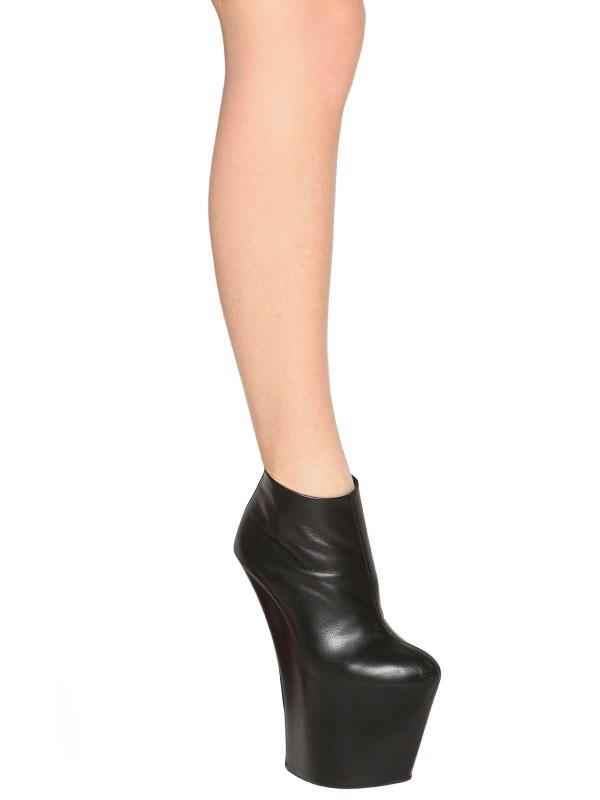 595c7f71defa Giuseppe Zanotti 200mm Calfskin Sculpted Boots in Black - Lyst