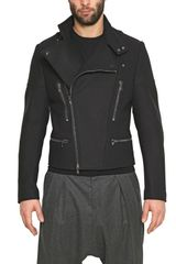 Givenchy Wool Felt Biker Jacket in Blue for Men (navy) - Lyst