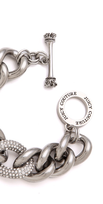 lyst juicy couture pave link bracelet in metallic. Black Bedroom Furniture Sets. Home Design Ideas