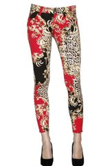 Just Cavalli Printed Drill Stretch Skinny Jeans