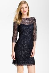 Kay Unger Sequin Lace Sheath Dress - Lyst