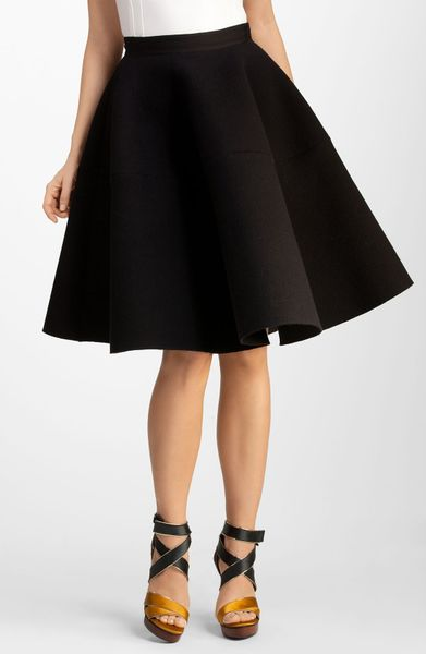 Lanvin Wool Skirt in Black - Lyst