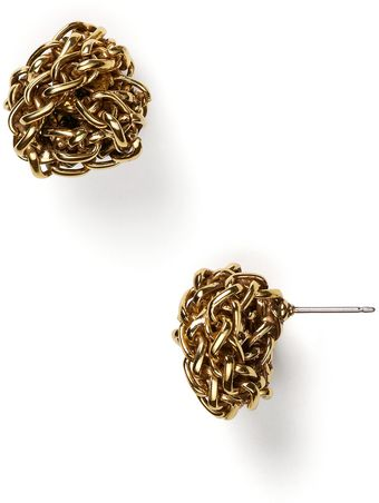 Lauren by Ralph Lauren Lauren By Ralph Lauren Braided Knot Stud Earrings - Lyst
