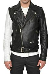 Marc Jacobs Asymmetrical Hammered Leather Jacket - Lyst