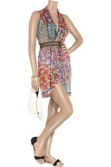 Missoni Praga Crochetknit Patchwork Wrap Dress in Multicolor (orange) - Lyst