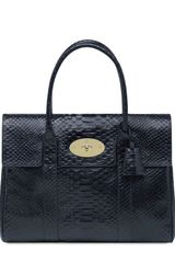 Mulberry Bayswater Silky Snake Shiny Leather Bag - Lyst