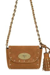 Mulberry Mini Lily with Tassels Heavy Suede Bag - Lyst