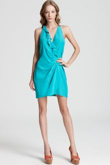 Parker Dress Wrap with Ruffle - Lyst