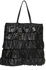 RED Valentino Textured Leather Ruffles Tote - Lyst